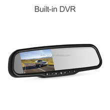 1296p LCD dvr in rearview mirror car rear view monitor