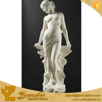 beautiful nude marble statues of sexy girl for outdoor decoration