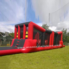 15x4.6 meters kids N adults wipeout inflatable obstacle course entertained with big rollers for balance games
