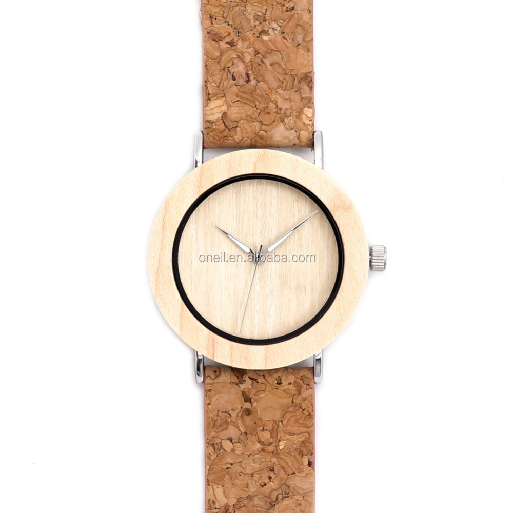 Casual Wooden Color <strong>Leather</strong> Strap Watch Cool Watches For Teenagers