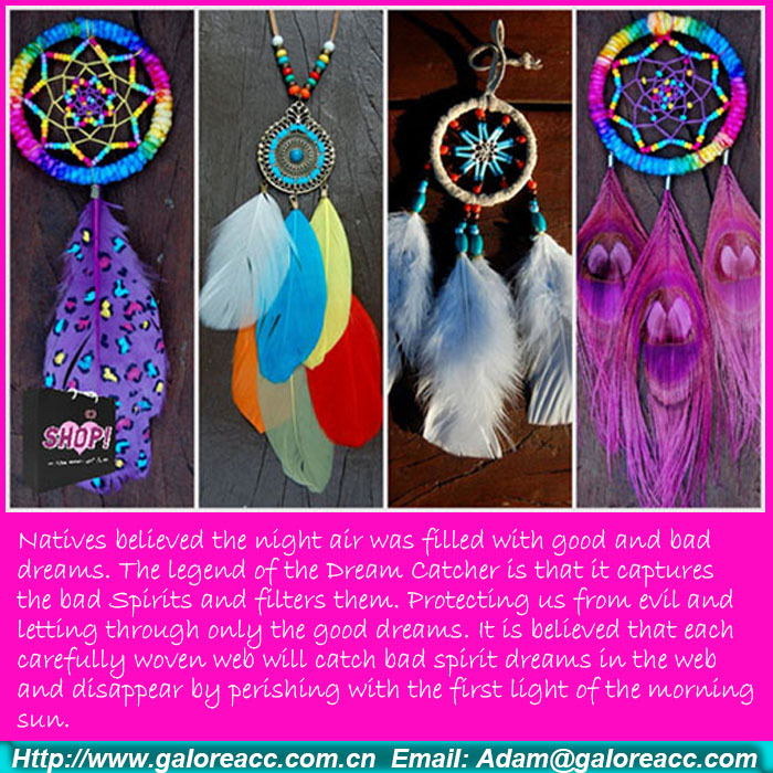 natural handmade dream catcher feather decoration