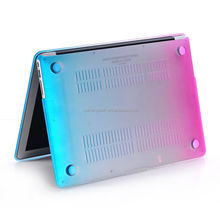 New matte rubberized rainbow case for apple macbook air 11.6 13.3, for macbook pro
