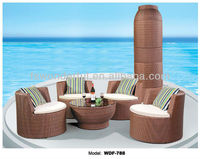 WDF-788 rattan sofa chair, outdoor stacking chair, foshan furniture
