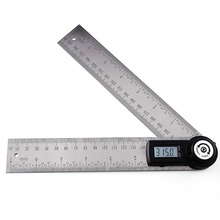2in1 Digital Angle Finder Meter/ Protractor Stainless Steel with Moving Blade Ruler 360 degree 400mm 0~999.9 degree Range
