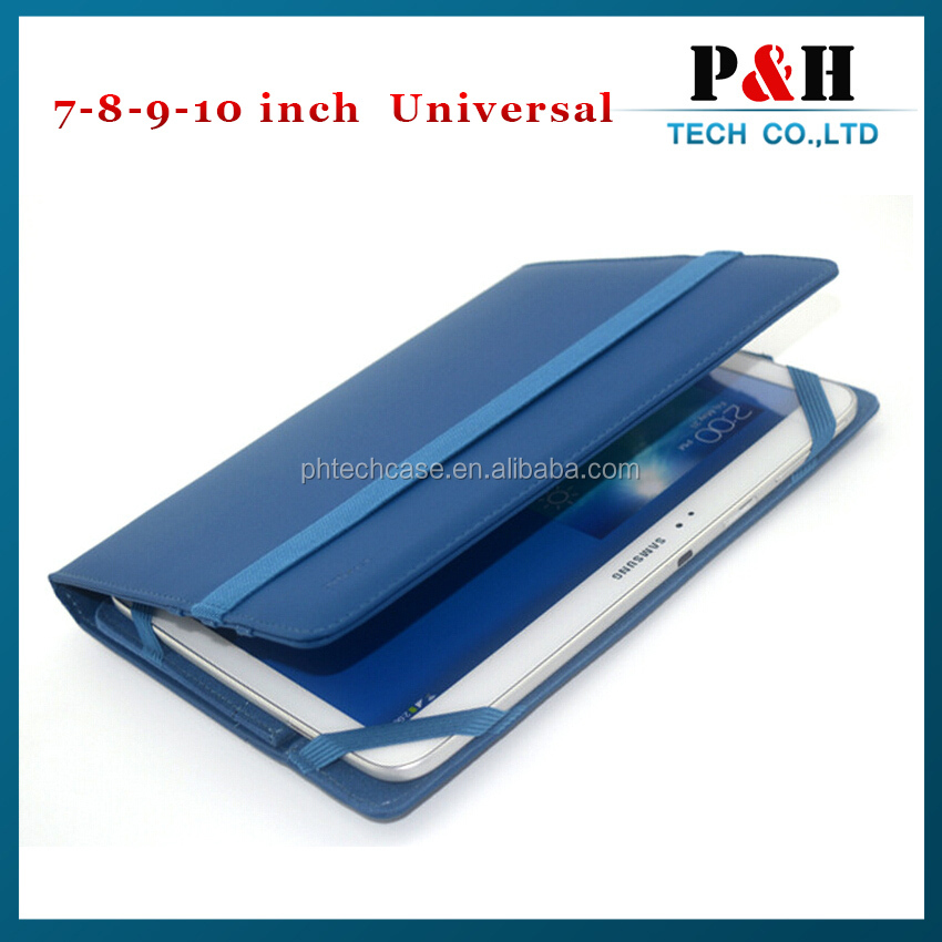 slim design universal wallet leather case for 7-10 inch tablets