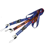 Promotion Personalized Black Double Clip Airline Airbus Custom Lanyard No Minimum Order