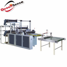 two layer two line Bottom Sealing D-cut Plastic Bag Making Machine
