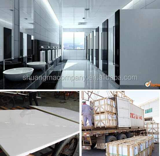 china super white artificial stone tiles flooring in room wall