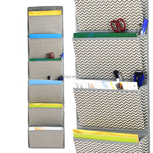 Most Popular Stripe Design 6 Pockets Wall Hanging Chart Organizer