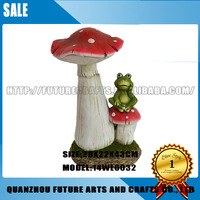 Mushroom With Frog Garden Decoration