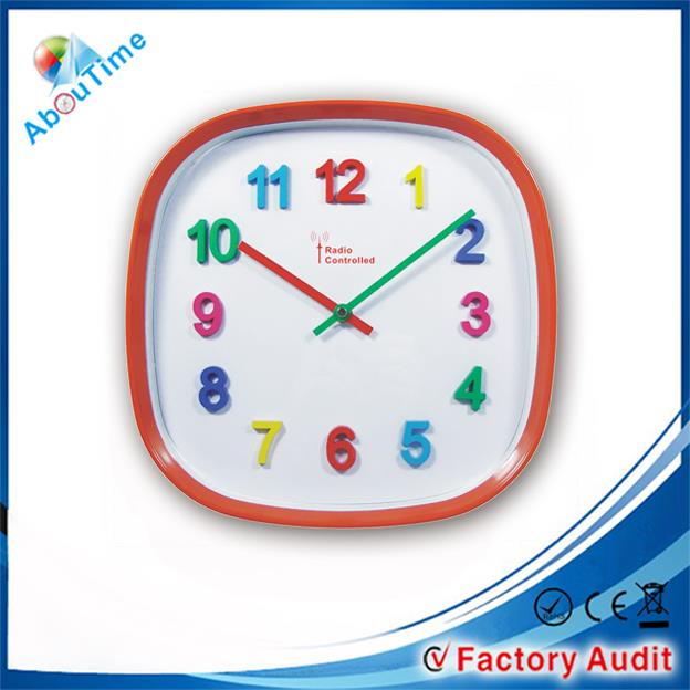 round 12 inch different colour digital coloring pictures clocks