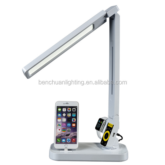 Manufacturer for promotional super quality promotional lamp table led with docking station i watch holder USB