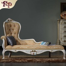 Classic european furniture-luxury palace italian classic furniture luxury classic chaise lounge