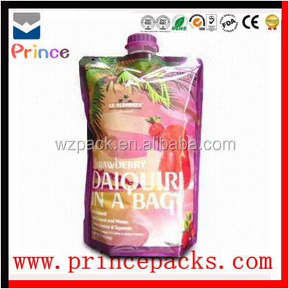 spout pouch plastic cheap printing bag