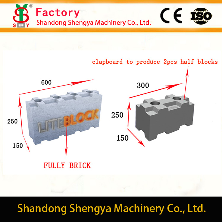 Lightweight Interlocking Dry Stacked Concrete Block making machines/moulds/molds(Skype ID:polemachine)