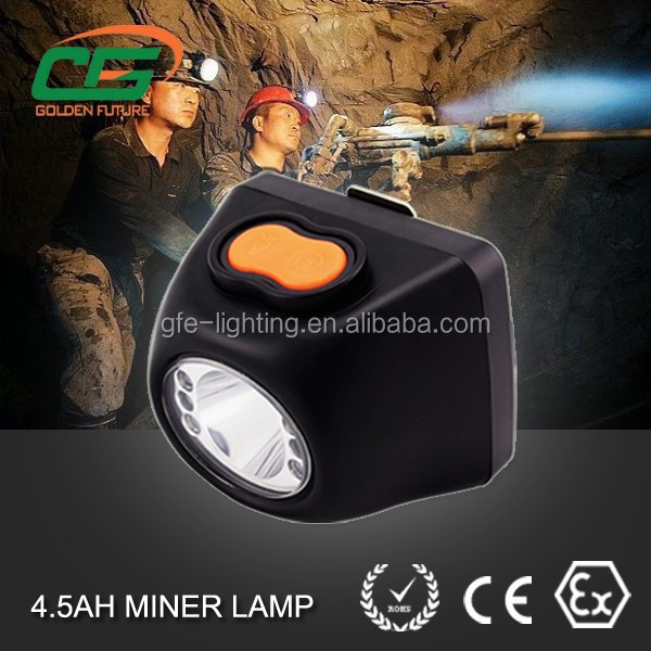 5 hours charging time 1 watt 4500 lux digital led mining light
