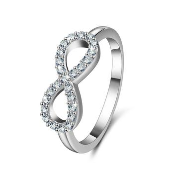 Wedding women jewelry rings Dianty engagement 925 sterling silver cz ring