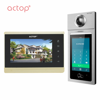ACTOP TCP/IP intelligent community intercom system HD Android smart machines