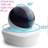 3.6mm lens HD 720P IP WiFi Camera network cam Wireless CCTV Surveillance with 8G memory card, support smart android iphone phone