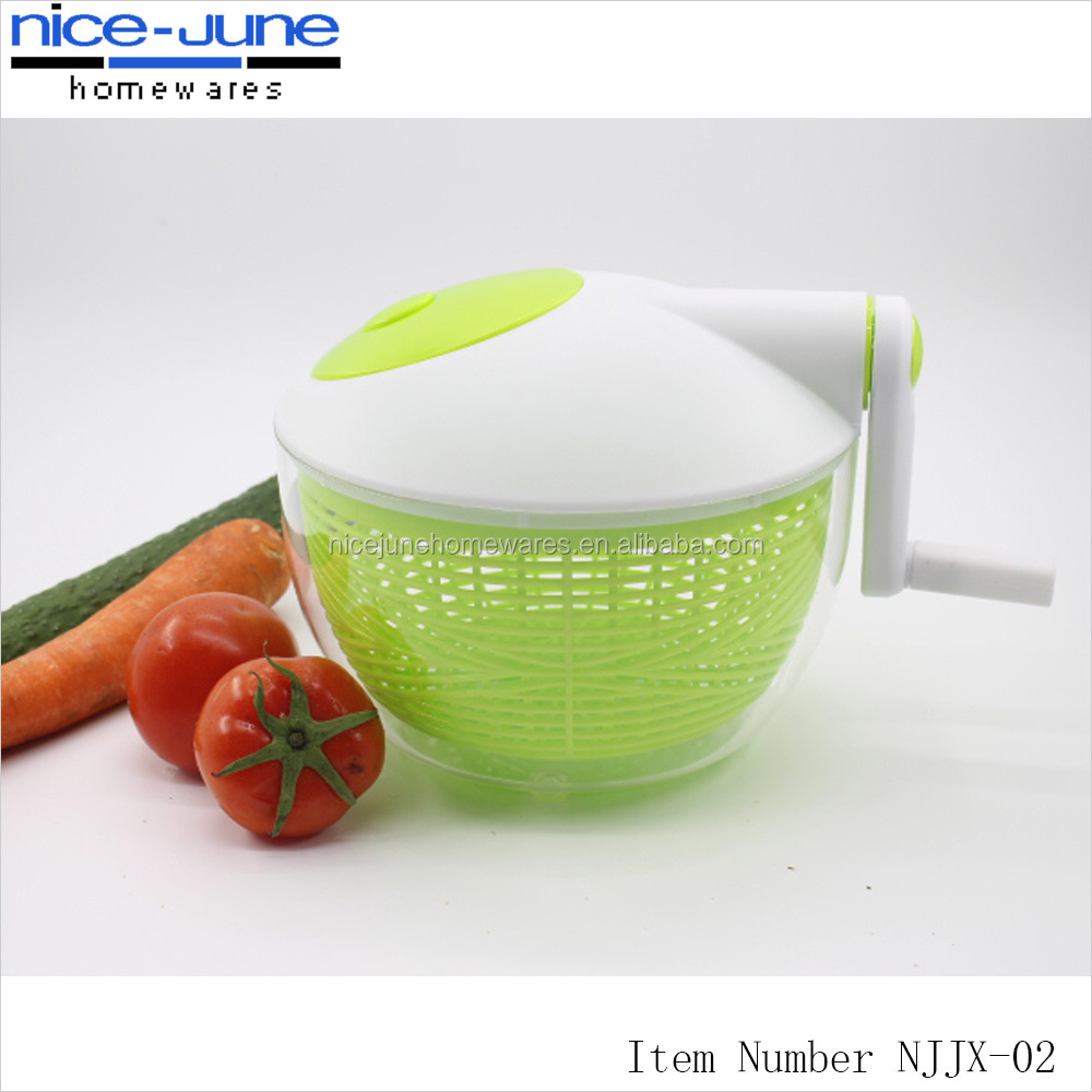Kitchen accessories vegetable salad spinner with bowl