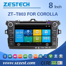 8 inch 2 din car dvd player for Toyota Corolla 2007 2008 2009 2010 car gps with car navigation