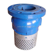 Ductile Iron Water Pump Flanged Foot Valve With Strainer
