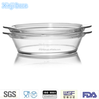 High borosilicate pyrex glass casserole set with lid