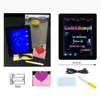 Sensory led writing display board with magic pen
