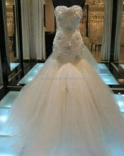 Professional factory luxurious sweetheart neckline crystal mermaid wedding dress