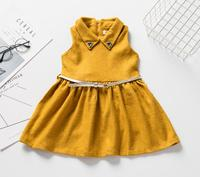 children's clothes girl's woolen knitted sleeveless one piece fashion dress girl's casual dress