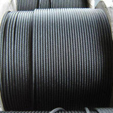 high carbon hot dipped galvanized steel wire rope, 8x19S +FC Elevator wire rod