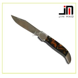 Popular style resin material handle jaguar pocket knife