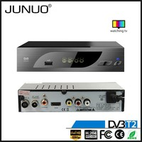 JUNUO shenzhen manufacture OEM quality FTA HD mpeg4 digital terrestrial tv decoder set top box dvb-t2 Ghana