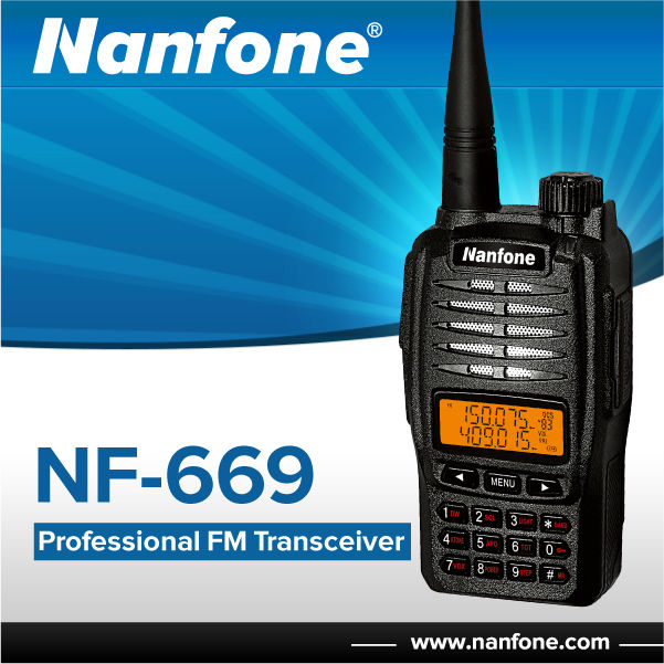 Nanfone Dual Band DTMF Function Professional FM Transceiver