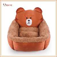 Fashion Customize Luxury Bear Shaped Pet Home Soft Dog Bed Plush Pet Bed