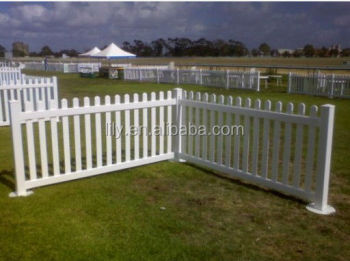 high quality white plastic PVC temporary fencing