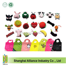 12 styles New Cute Useful Animal Bee Panda Pig Dog Rabbit Foldable Eco Reusable Shopping Bags 12Styles