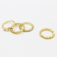 Gold 4pices / set metal o ring