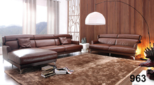 Elegant Noble Designs Modern Leather Sofa Set Living Room Corner L Shape Sofa Cover Leather