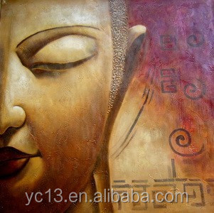 home decor buddha design wall artwork oil painting