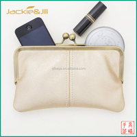GF-X305 Women Leather Evening Clutch with Kiss Lock Closure