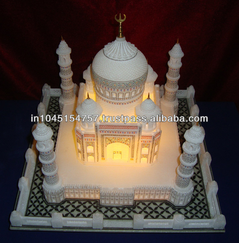 Indian Collectible Souvinir Marble Taj Mahal / Tajmahal Replica Home Decor