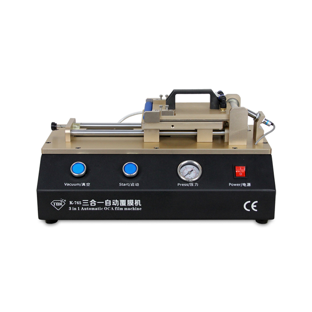 TBK -765 Innovative Product 3 in 1 Automatic OCA Film Machine With Built-In Vacuum Pump And Air Compressor For Mobile Phone
