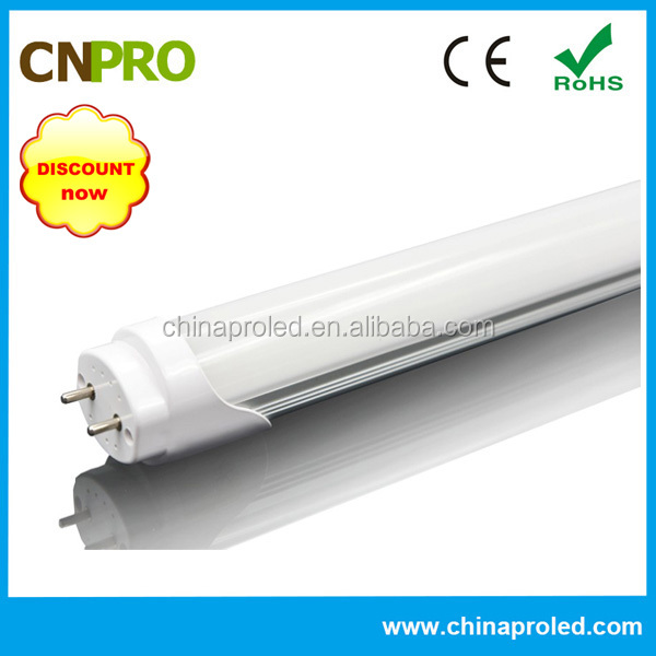 High power factor energy saving light 4ft t8 led tube 18w 86-265v/ac IP44