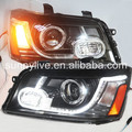 2001-2007 year for Toyota Highlander or Toyota Kluger LED Head Lamp PLUS front grill YZ