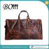 mens vintage leather travel duffel bag wholesale