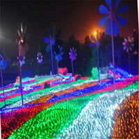 Holiday time christmas led net lights 1.5*1.5m 96lED 220v-240v light string