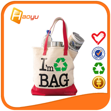 Wholesale cotton fabric shopping bag with logo print