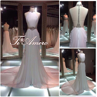 TH-5969cx Hot Sexy Backless Halter Ruffle Mermaid beaded Rhinestonds Wedding Dress/Gowns South America Style Wedding Dress 2015