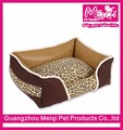 New Arrival Leopard Pet Bed Dog Sofa Pet Sleeping Dog Bed Luxury